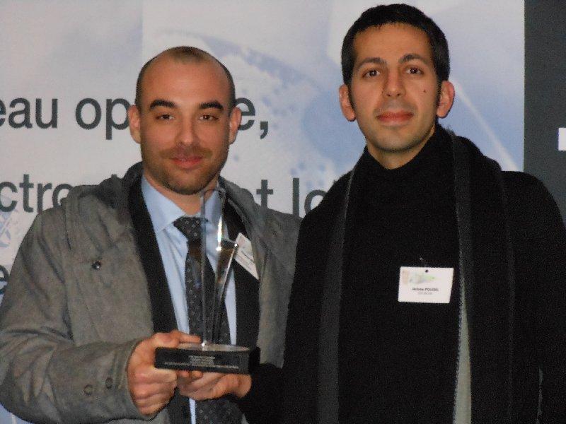 Prix fibre de l'Innovation  d'Optics Valley, catégorie recherche aux chercheurs du LCSI (CEA Saclay)