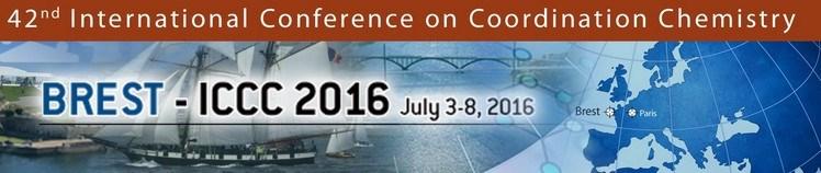 Conférence Internationale sur la Chimie de Coordination: 3-8 juillet 2016