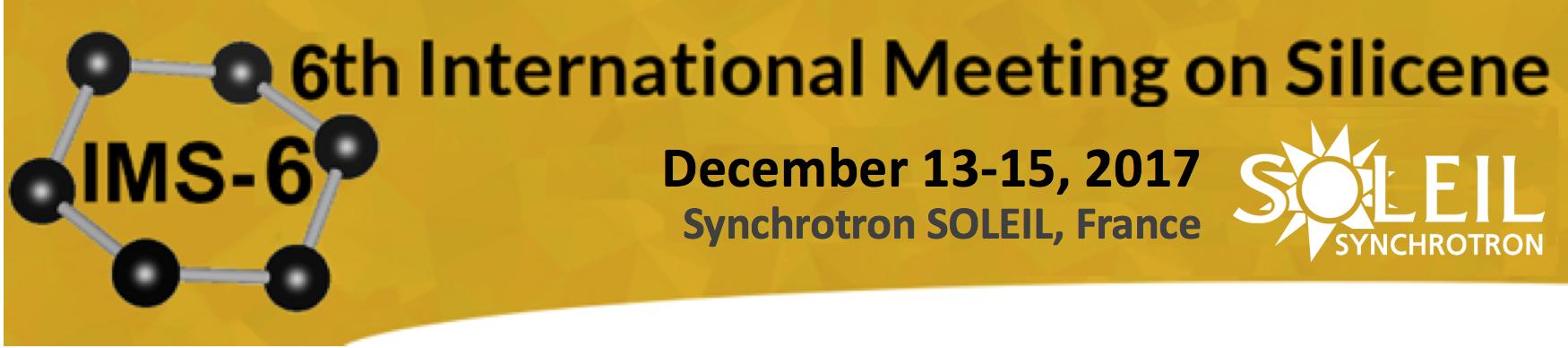 Conférence Internationale sur le Silicene, 13-15 décembre 2017