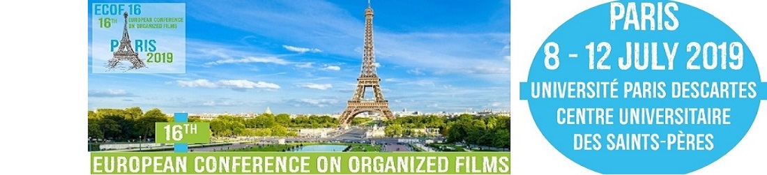 16th European Conference on Organized Films, 8-12 juillet 2019