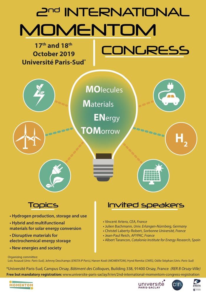 Congrès MOMENTOM, 17-18 octobre 2019