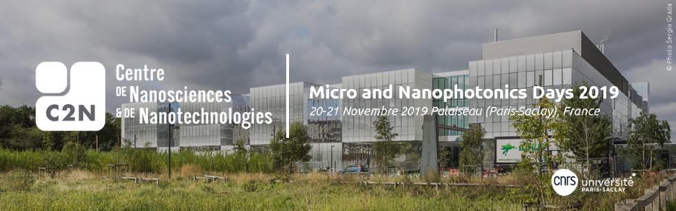 Micro- and Nanophotonics Days 2019, 20-21 novembre 2019