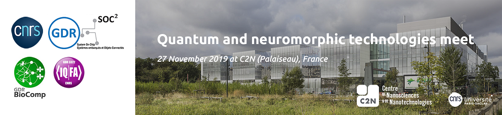 "Inter-GDR Workshop ""Quantum and neuromorphic technologies meet"" 27 November 2019"