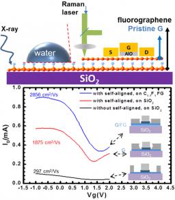 Intégration du fluorographene en couche de passivation pour un transistor FET