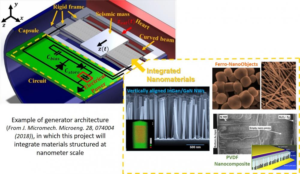 • Flagship 2020-2024 : NanoVIBES (Nanomaterials and nano-structured architectures for micro-devices harvesting mechanical energies)
